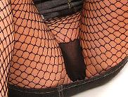 fishnet upskirt close-up